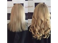 Hairdresser hair extensions great lengths microweaves LA Weave fusion bonds