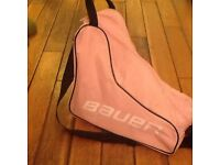 Pink and white ice skate size 31 Euro, 12 uk