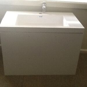 Bathroom Vanity - Forme 800mm White Cabin Wall Hung Cowra Cowra Area Preview