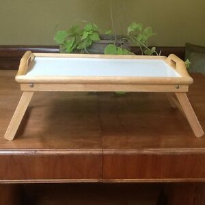 Beechwood folding bed tray