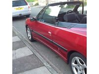 Convertible Peugeot 306 2 ltr automatic