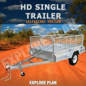 ×7x5 600mmCage ROAD-ROLLER Suspension heavy duty trailer× Chadstone Monash Area Preview