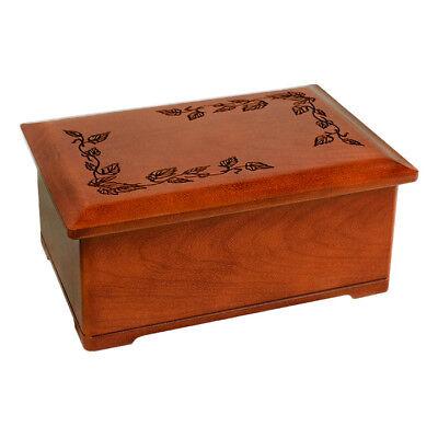 Wood Cremation Urn (Wooden Urns) - Cherry Autumn Leaves