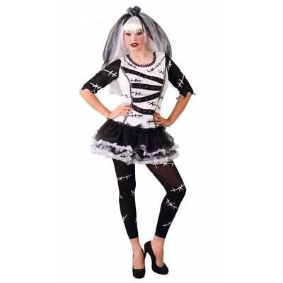 Braut Leiche Kostüme (Damen Monster Zombie Leiche Braut Puppe Halloween Kostüm)