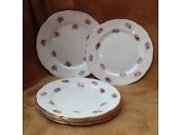 Bone china vintage tea plates