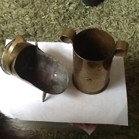 Trenchart made from old cannon shells