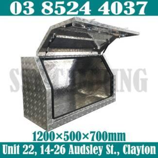2.5mm Heavy Duty Full Side Open Aluminium Toolbox 1200x500x700