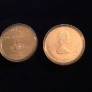 1976 Canadian OLYMPIC COINS - Vintage Sterling Silver