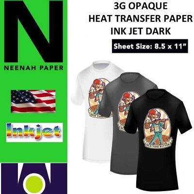 NEENAH TRANSFER PAPER 3G JET OPAQUE 50 SHEETS 8.5 X 11 TOP SELLER (Top Transfer)