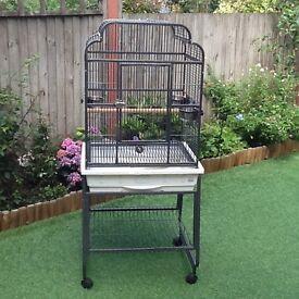 Open top bird cage suitable for cockatiels, love birds, etc
