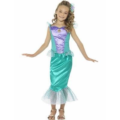 Girls Mermaid Costume Green Purple Fancy Dress Sea Princess Toddler Child Kids