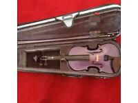 Purple violin, size 4/4