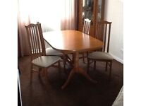 Dining room table plus six chair