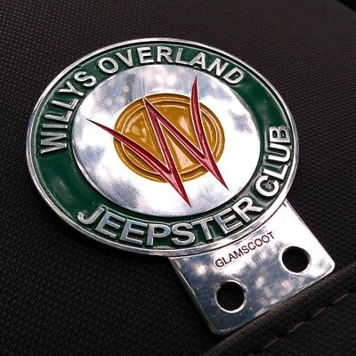 Willys Jeep Owner Overland Company Car Badge Club Emblem Pick Up Sale Jeepster