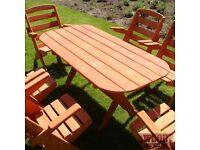 Wooden Pine Garden Set