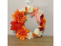Floral Wreaths/Rustic Wedding Decorations/Mothers Day Gift.