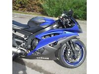 Yamaha R6 2014 in blue