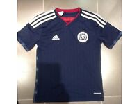 Scotland 2014-15 Authentic Home - Junior Football Shirt - 9-10 yrs