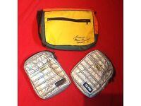 3 x retro 1970's & 1990's electronics bags.