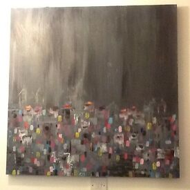 Abstract painting an original Hand painted canvas Marc Gras