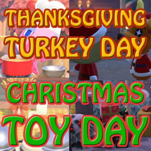 ACNH🔔🎻🍂November Update 100+ Items Thanksgiving Turkey Day Toy DIY Set🔥📦🎫