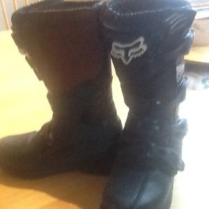 Fox racing dirt bike boots