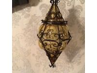 Blown Glass Lantern Light
