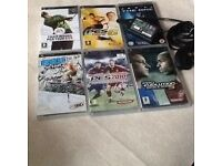 White Psp slim&lite with case plus 10 games movies