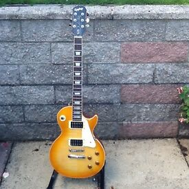 EPIPHONE LES PAUL STD.WITH GIBSON HUMBUCKERS .£300.