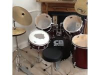 CB drum kit 8piece quality beginners kit with chair and drumsticks,comes with tuner