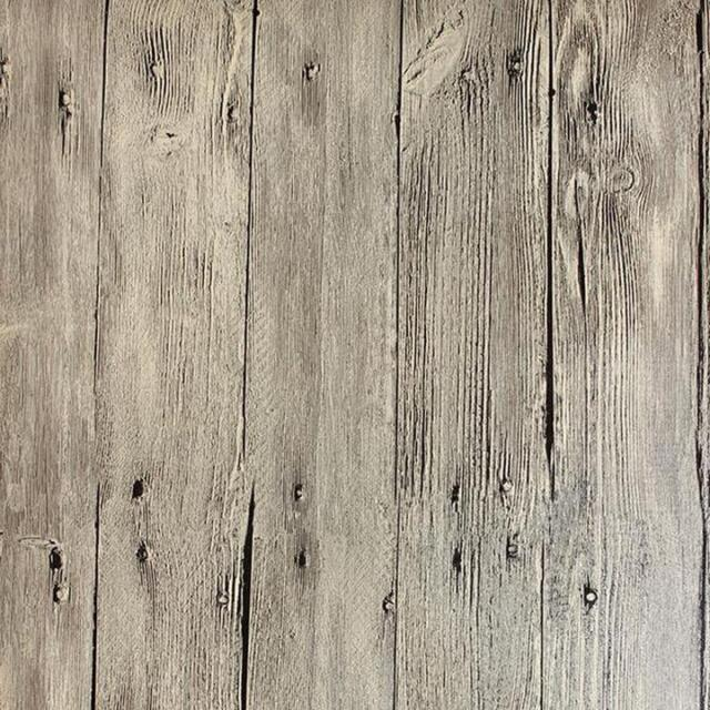 """Vintage White Washed Faux Wood with Knots PVC Wallpaper 20.5""""x394""""/Volume M"""