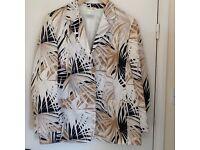 Designer PLUS SIZE 22 100% silk jacket BASLER