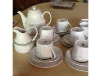 Royal doultan job lot cups saucers cream sugar teapot