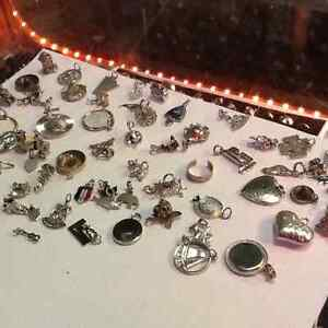 Charms silver, pewter $10 +up each