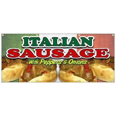 ITALIAN SAUSAGE SANDWICH BANNER hot dog tenders chicken lemonade french fries