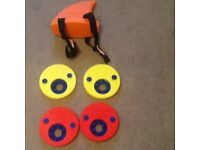 Swimming AIDS Four Delphin Discs and Swim Fin To Help Children Gain Confidence in the Water