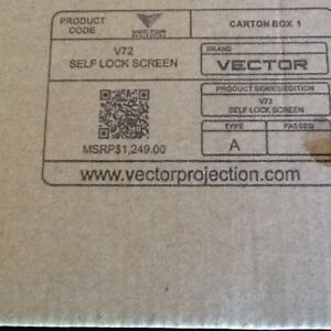 Vector projector screen
