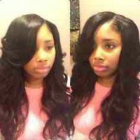 Weave Sew in Install Closure, leave out and full head sew in