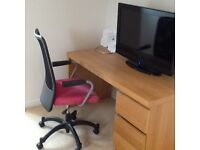 Desk and chair - ikea.