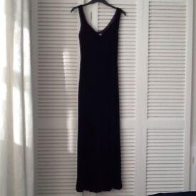 Purple velvet long dress, size 8, Next