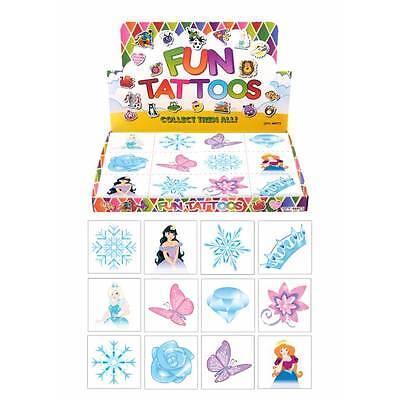 24 x Frozen Ice Snow Queen Temporary Tattoos Princess Children Girls Party Bag