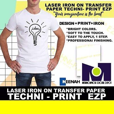 Laser Iron On Transfer Paper Technit-print Ezp 8.5 X 11 25pk 1 Seller