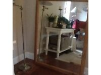 Large pine mirror in great condition measures 135cms X 100cms
