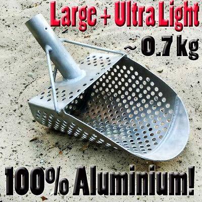 ALUMINIUM ULTRA-LIGHT Large Sand Scoop  PELICAN8 Metal Detecting Hunting Tool