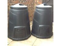 2 Garden Waste Composter Bins.