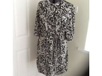 Black and white size 18 dress M & S