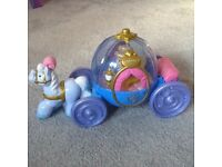 Fisher Price Little People Disney Princess Carriage with Cinderella figure