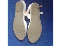 White scholl sandals size 6. Hardly worn.