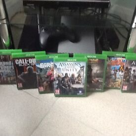 XBOX ONE console and 7 games