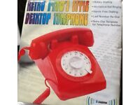 Retro phone in red brand new